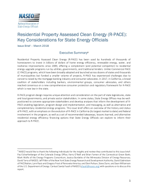 Residential Property Assessed Clean Energy (R-PACE): Key ...